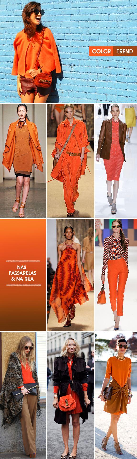 Color trend: laranja + marrom
