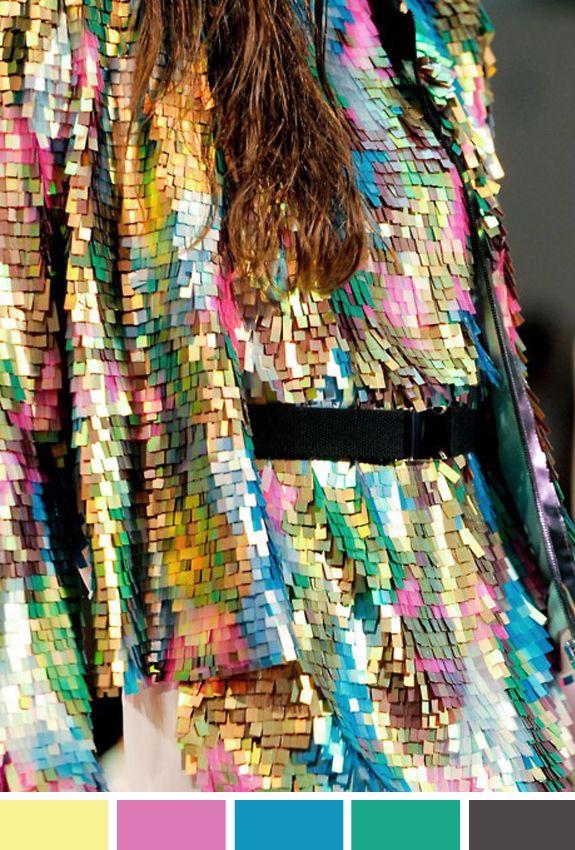 Paetês coloridos