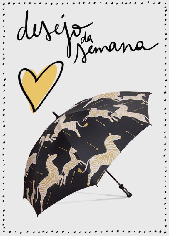 Guarda-chuva estampa de zebra Digs