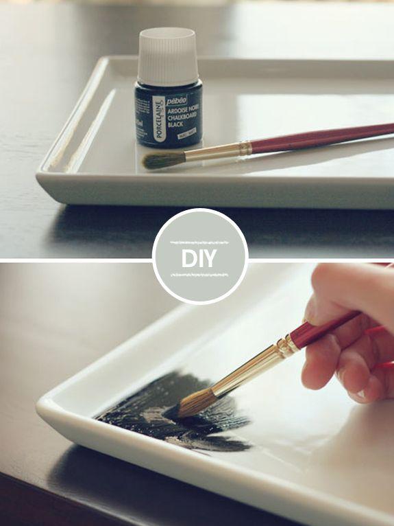 DIY porcelana de lousa