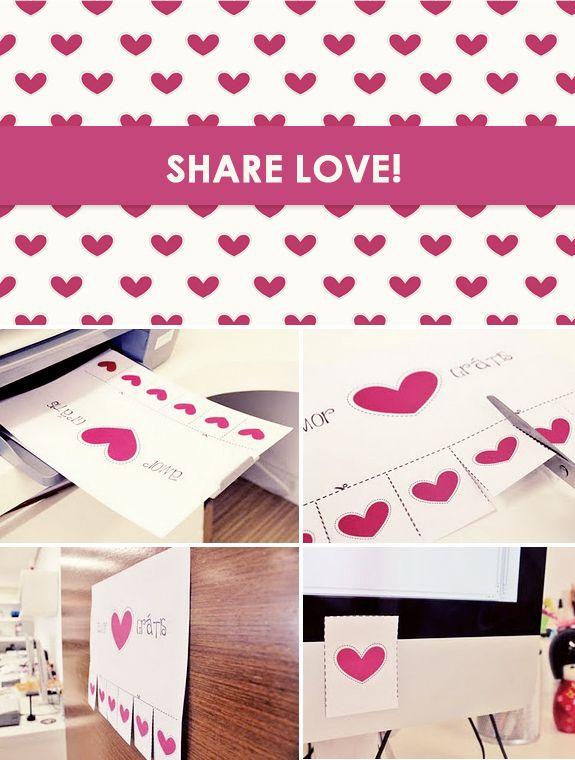 Cartões de coração