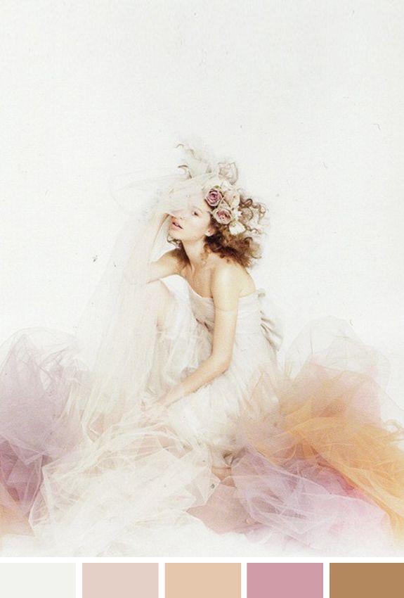 Inspiração do Dia Romance Flor Pastel