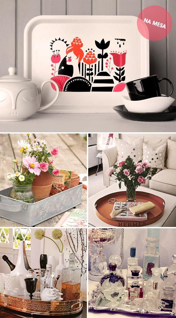 Ideias de decoração com bandeja
