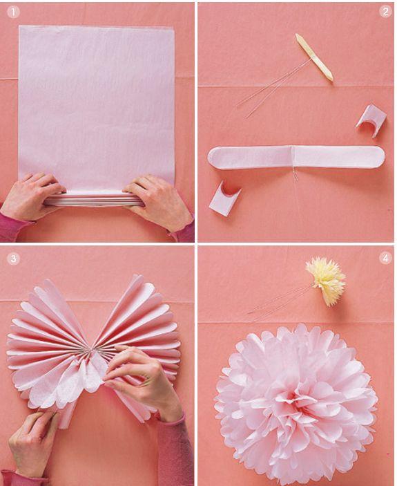 DIY coração flores papel