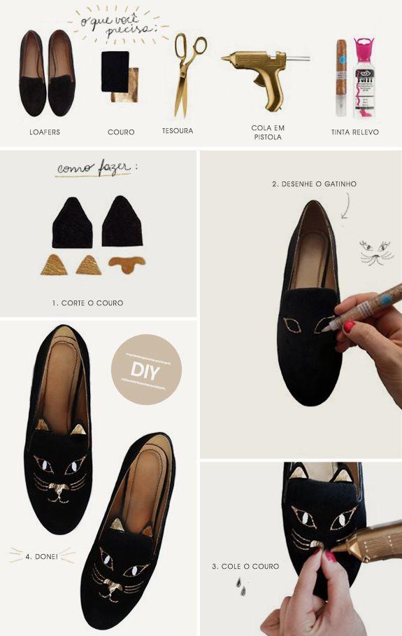 DIY: slippers de gatinho