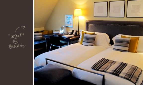 Diário de viagem Londres - Hotel Browns