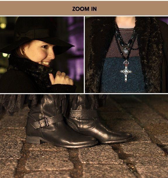 Look do dia em Londres Renda, tricô e chapéu