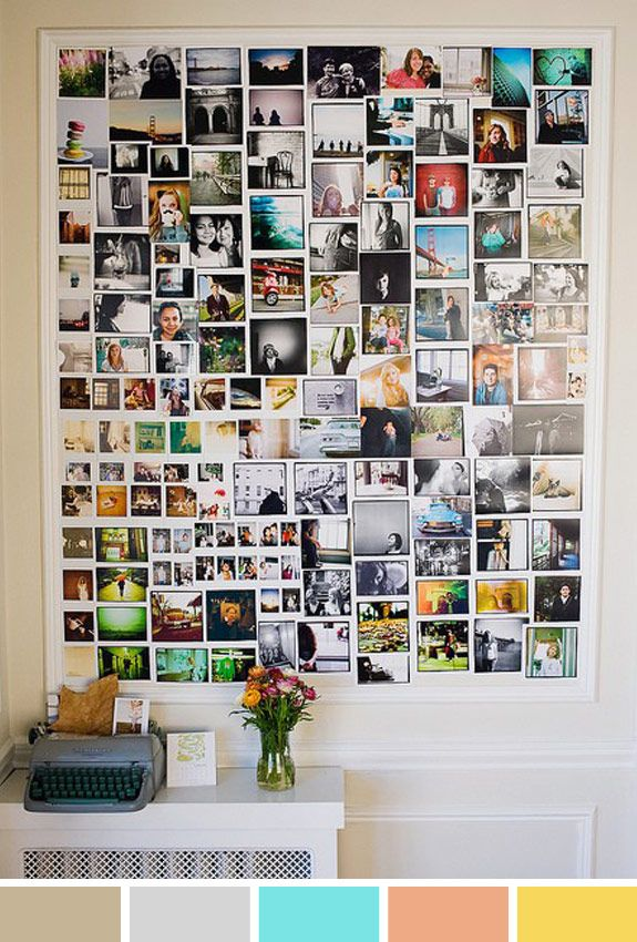 Inspiração do Dia: mural de fotos