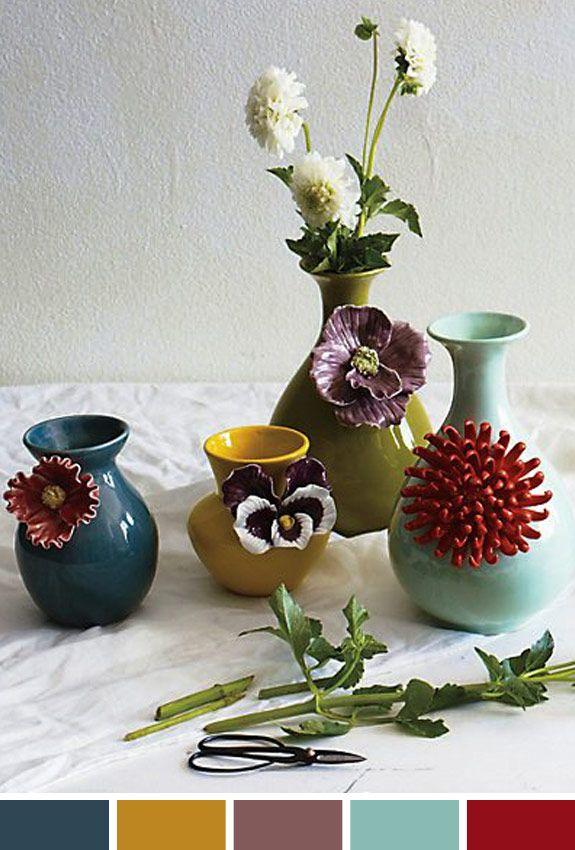 Inspiração do Dia: vasos flores Anthropologie