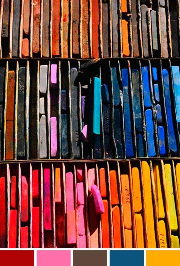 Inspiração do Dia: pintura giz pastel