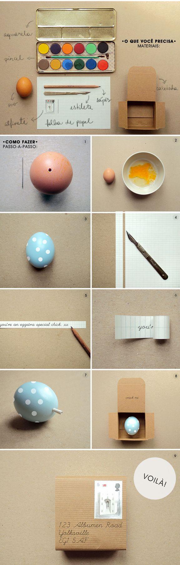 DIY Páscoa: ovo com bilhete