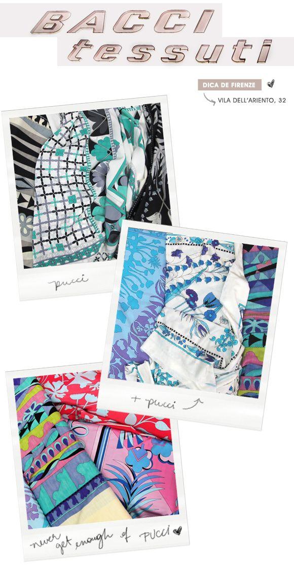 Achado em Firenzi: tecidos Pucci