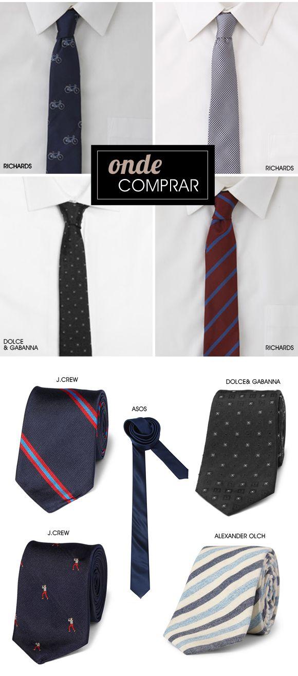 Estilo para eles: gravata slim