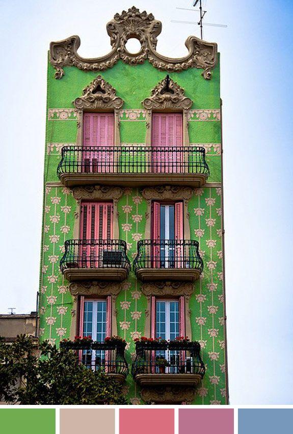 Inspiração do dia: décor prédio Barcelona