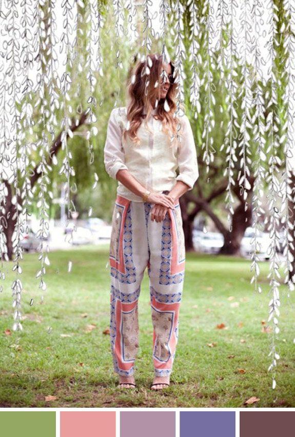 Inspiração do Dia: chuva de flores tons suaves calça pijama