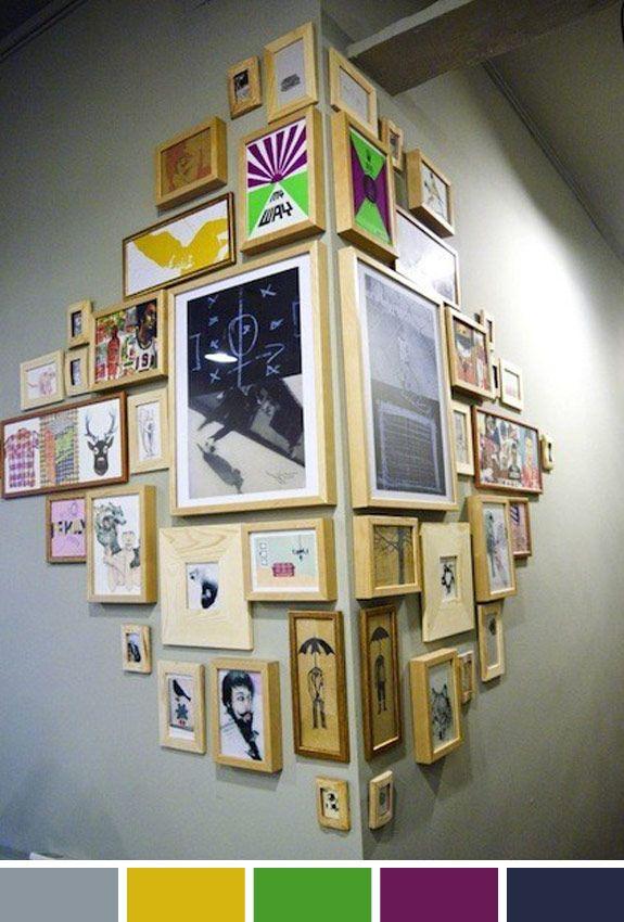 Inspiracação do dia: decoração com quadros
