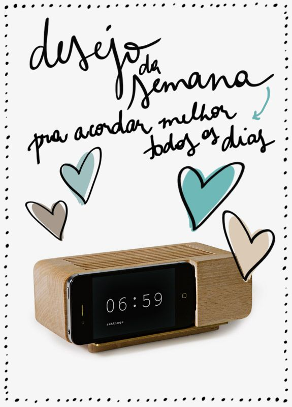 wood dock alarm clock para iphone