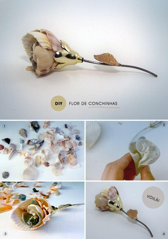 DIY: flor de concha