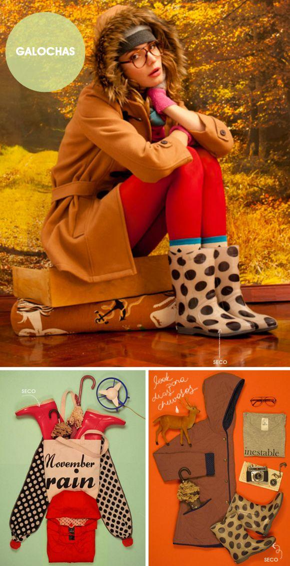 Olha a chuva: galochas cheias de estilo