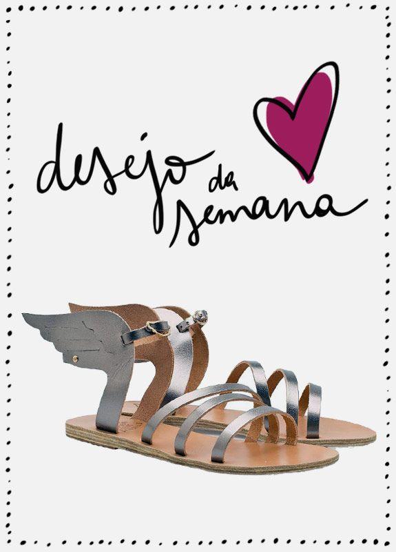 Desejo da semana: sandália gladiadora asas Ikaria