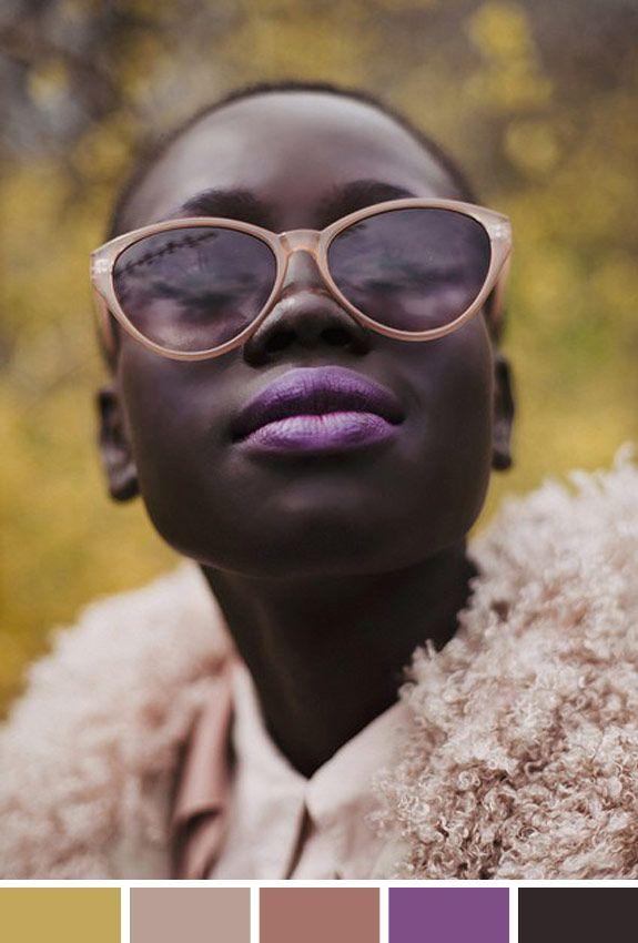 Inspiração do dia: batom lilás