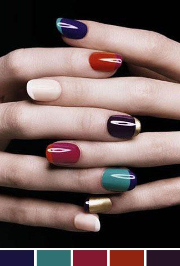 Inspiração do dia: esmaltes coloridos francesinha