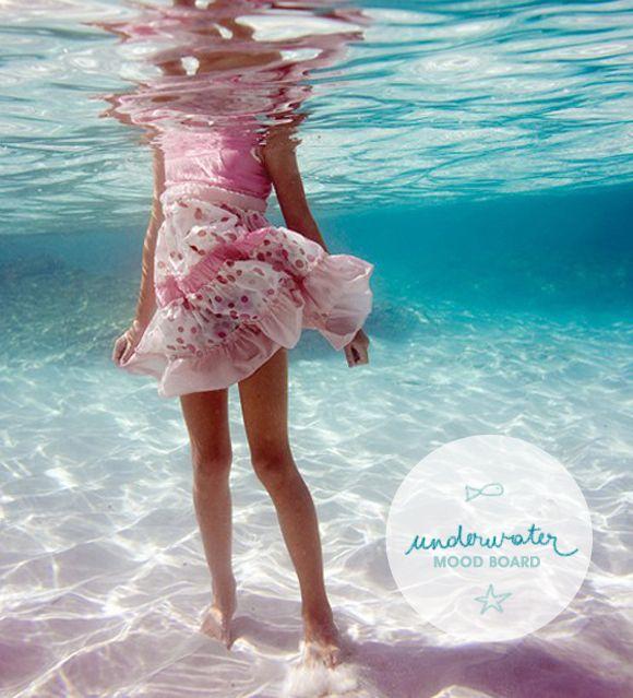 Tendência: fundo do mar moodboard