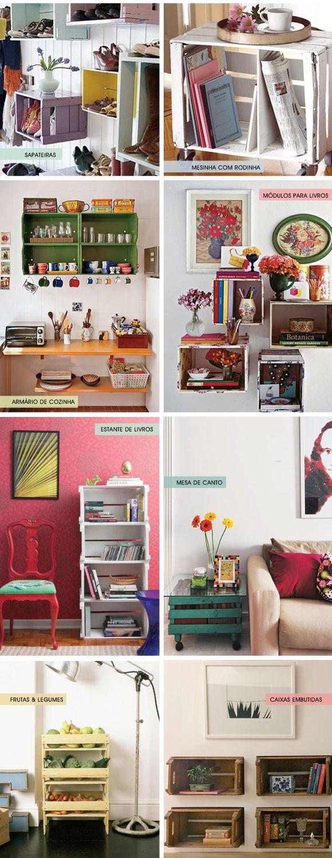 Ideias de décor com caixas de feira