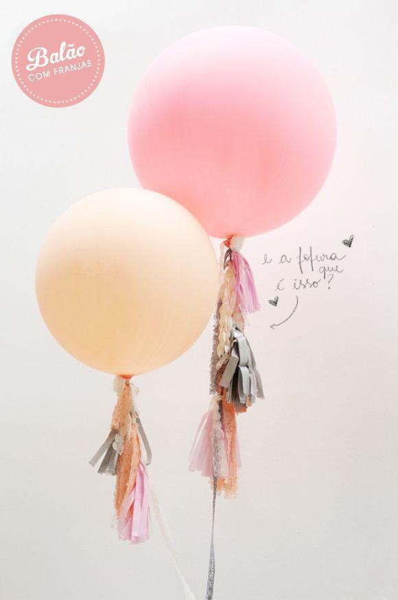 DIY balão com franja