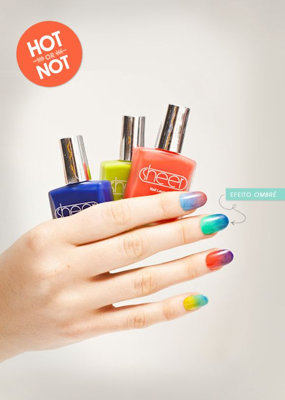 Hot or not: ombré nails esmalte