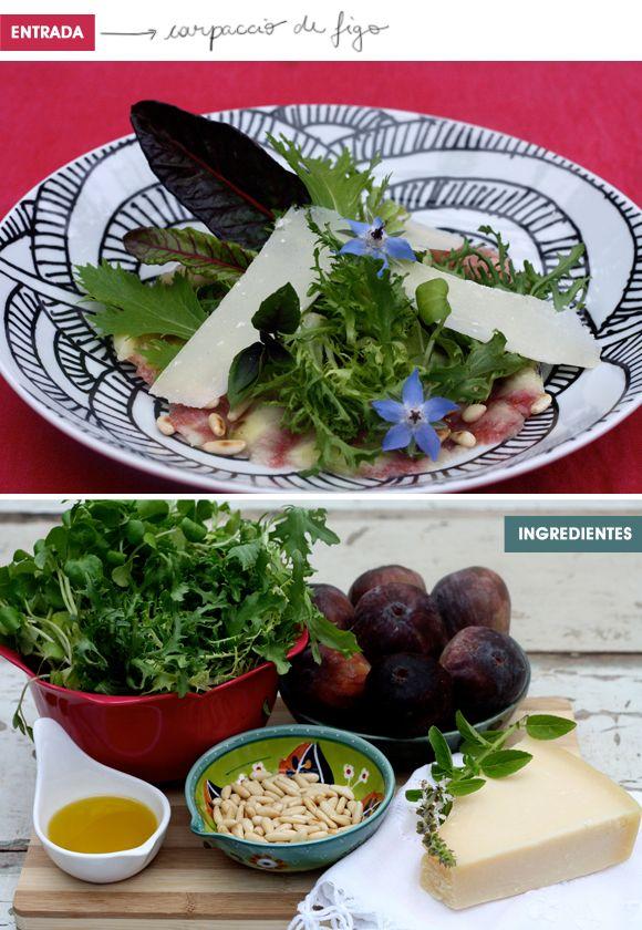 receita carpaccio de figo