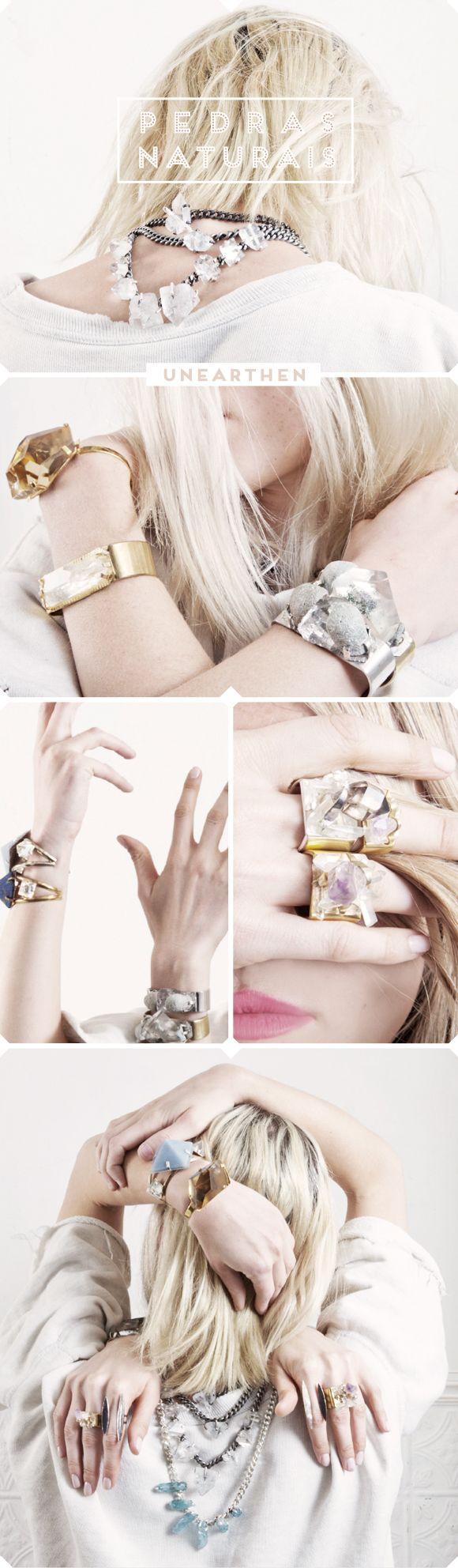 Unearthen: bijoux de pedras brutas