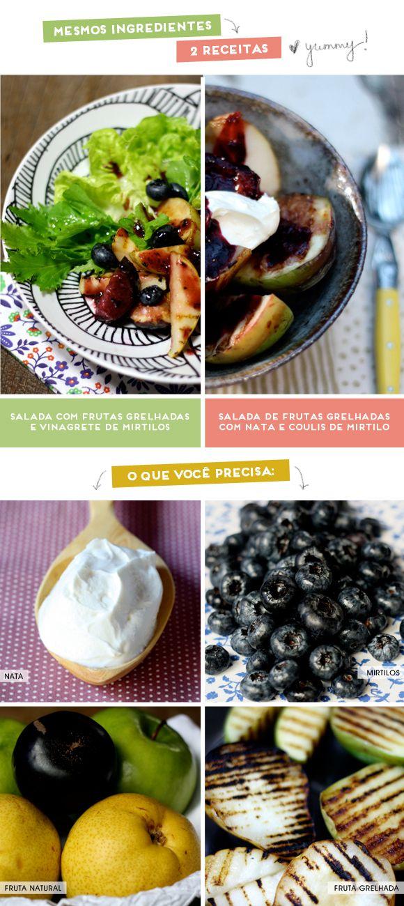 Salada de (ou com) frutas grelhas