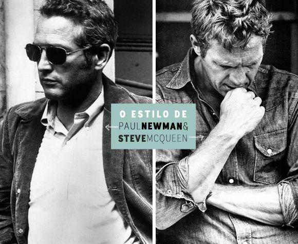 Estilo masculino: Paul Newman e Steve McQueen