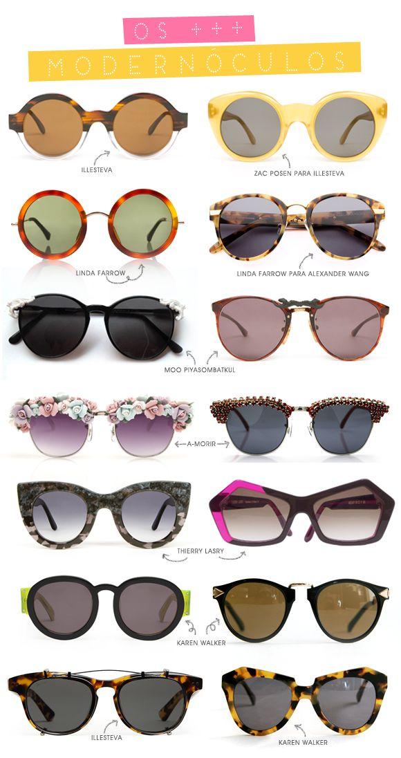 Os óculos modernos que tanto amamos!