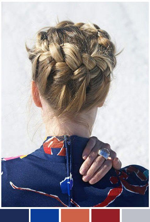Inspiração do dia: penteado com trança