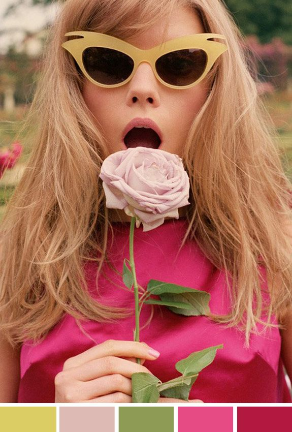 Inspiração do Dia: flor, pink e óculos gatinho