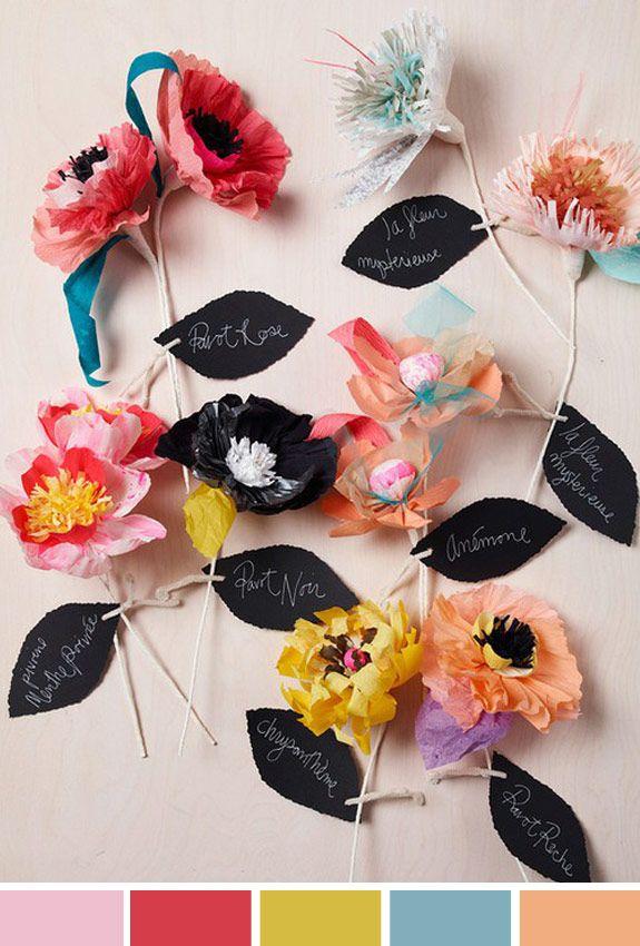 Inspiração do dia: flores de papel