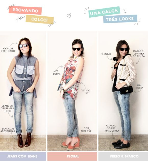 Uma peça, três estilos: calça Luxury Collection Colcci