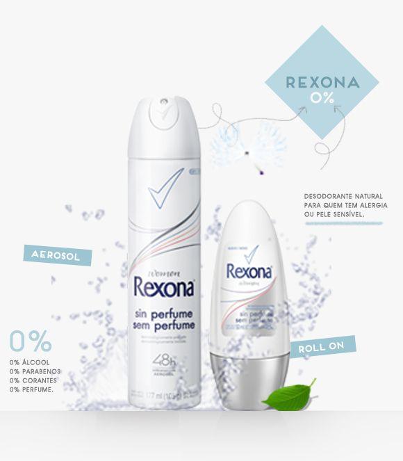 Rexona Women Sem Perfume 0%