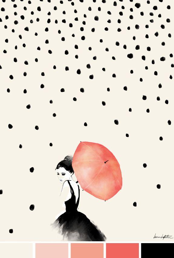 Inspiração do Dia | Polka Rain | Karen Hofstetter