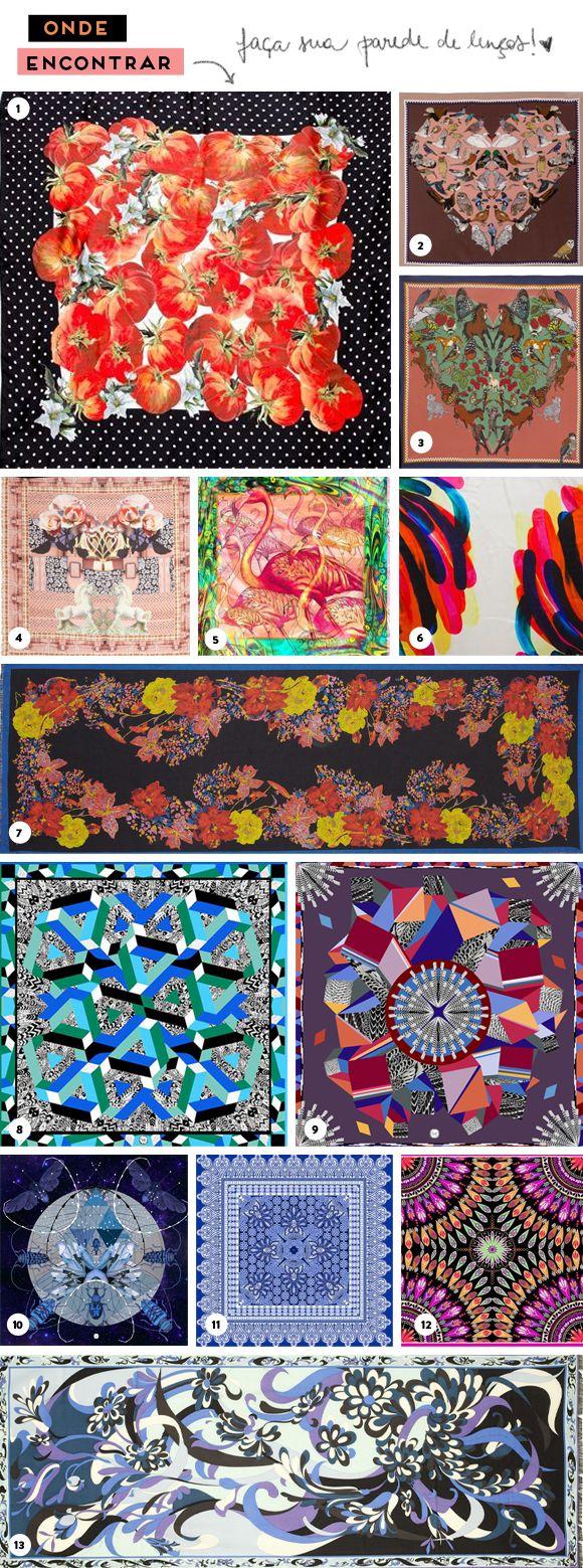Ideias de decoração: lenços na parede