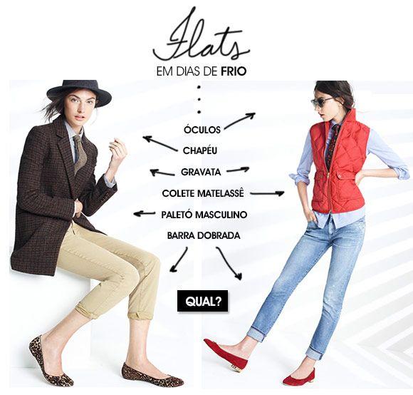 Flats no frio – como usar